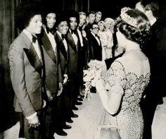 The Jacksons meeting Queen Elizabeth