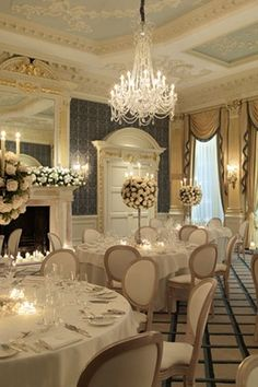 The Drawing Room at Claridge's Hotel designed by Guy Oliver of Oliver Laws Ltd
