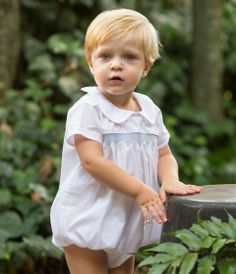 Spring Boy's Smocked Bubble | Spring Baby & Toddler | Shop! Pixie Lily