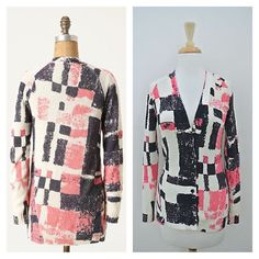 listing! Anthropologie graphic cardigan Beautiful Anthropologie Experimental Graphic cardigan. Brand is Field Flower. In amazing condition. Size small. One very faint tiny mark on the front panel. Not at all noticeable. See picture for reference. In otherwise fabulous condition! Unique weave, and pattern. A great pop to your wardrobe! 70% cotton. 30% nylon. Anthropologie Sweaters Cardigans