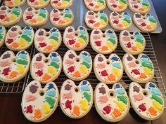 Paint Palette Sugar Cookies