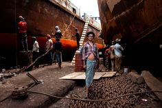 Working in a Bangladesh shipyard – in pictures