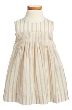 Burberry+Stripe+Silk+Blend+Dress+(Toddler+Girls)+available+at+#Nordstrom