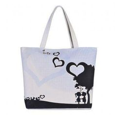Pagry Heart Tree Tote Bag (White)