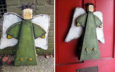 wooden garden angel