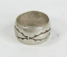 Authentic Native American Navajo Sterling Silver ring size 8