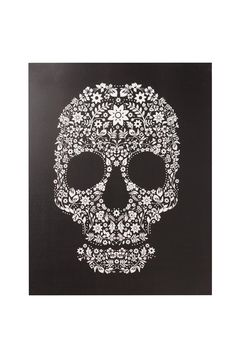 Womens, Mens and Kids Clothing and Accessories Floral Skull, Grunge Goth, Skull Head, Kids Outfits, Canvas Prints, Black And White, Typo, Skulls, Bedrooms