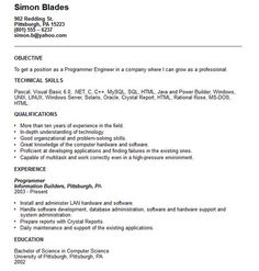 Computer Programmer Resume Resume Templates That Stand Out  Httpgetresumetemplate