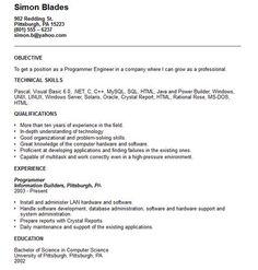 computer programmer resume template httpgetresumetemplateinfo3624computer
