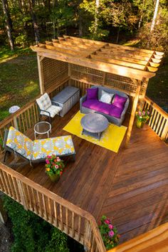 Eclectic Deck Design Ideas, Pictures, Remodel and Decor