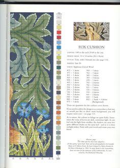 Needlepoint Fox, part 3..  with the color chart...    Gallery.ru / Photo # 9 - Unicum - Yra3raza
