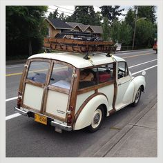I helped restore three of these with my dad. Morris Traveller, Mini Morris, Cars Vintage, Classic Cars British, Beach Buggy, Morris Minor, Unique Cars, Station Wagon, Amazing Cars