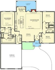 Amazing Sightlines - floor plan - Main Level Modern House Ideas For You After leaving the pa New House Plans, Dream House Plans, Small House Plans, House Floor Plans, Dream Houses, Ranch Floor Plans, 3 Bedroom Home Floor Plans, Simple Floor Plans, Dog Houses