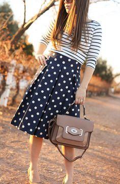 blue dots skirt