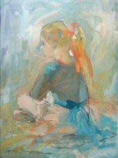 """Kate Long Stevenson: """"Red Ribbon"""", Oil Enamel, Charleston Artist."""