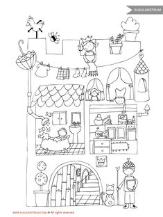 Embroidery Pattern from es.XuxuLanstrum.com. This would be SO CUTE Embroidered for a kids room. jwt