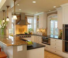 Кухня, Кухня, Мебель и предметы интерьера, Декор,  американский стиль,  Белый, Коричневый, Бежевый,