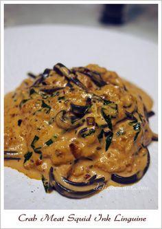 Pasta Sauce Rose Olive Oils New Ideas Crab Meat Pasta, Squid Ink Pasta, Best Pasta Recipes, Seafood Recipes, Cooking Recipes, Squid Ink Recipe, Seafood Linguine, Shrimp, Risotto Cremeux