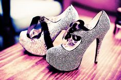 Pumps with Bling and Bow Ties