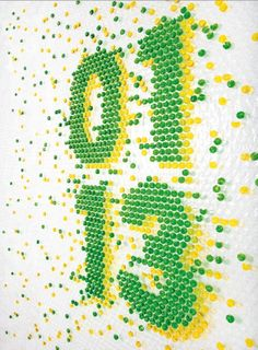 Bubble Wrap Typography...injecting bubble wrap with colored water, seriously time consuming but pure genuis