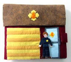 Felt+Fire+Station+...Quiet time book...All kinds of different pages for your book.This would be a fun project to do with the kids!