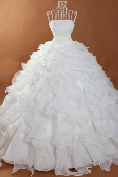 Robe de mariée princesse sur mesure bustier froufrou organza