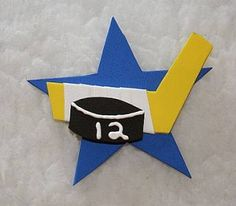 Hockey Star Pin or Magnet