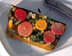Find the recipe for Summer Vegetable Terrine and other herb recipes at Epicurious.com