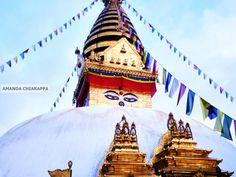 Travel Photography Swayambunath Monkey by SnapshotsOfTheWorld, $20.00