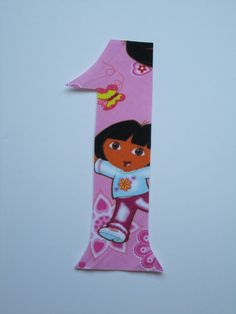 Dora Birthday Number Iron On Applique by TheCutiePieCompany, $2.95