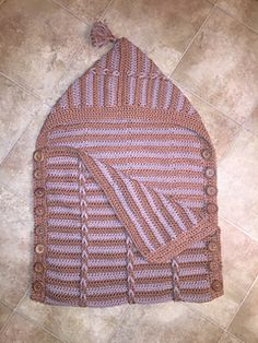 8bfd5c57576 Cosy Cables Sleep Sack Crochet Pattern Knitting Patterns