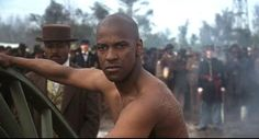 Denzel Washington...a beautiful man in a scene I will never forget...single tear gets me everytime....