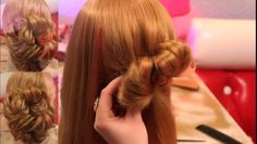 Причёска на основе хвостиков