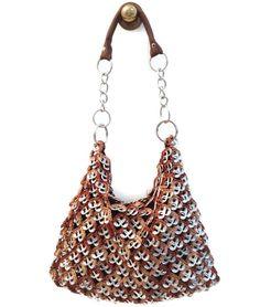 INSTANT DOWNLOAD PDF Pattern Hobo - Pop Tab Crochet Shoulder Bag, Handbag or Shoulder Purse Tutorial