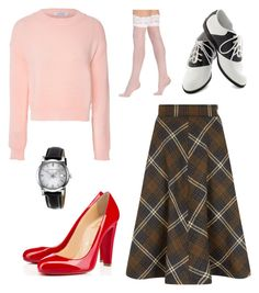 Audrey Horne Twin Peaks by tara-starlet on Polyvore featuring Glamorous, Berkshire, Christian Louboutin, Pinup Couture and Burberry