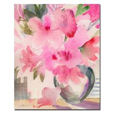 Pink Azaleas Canvas Art by Sheila Golden - SG069-C3547GG