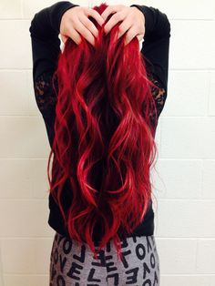 I went from my natural dark brown to blood red by using L'Oreal Excellence HiColor Magenta hair dye from Sally Beauty Supply.