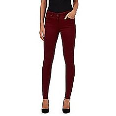 Red Herring - Dark red 'Holly' super skinny jeans