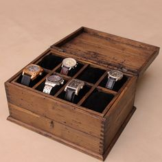 very nice!  https://www.etsy.com/listing/180729744/personalized-rustic-mens-watch-box-for-8