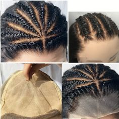 Fake Scalp Full Lace Wig-With the Fake Scalp/ Bald Cap Wig, you don't have to do cornrows, to use wig caps, to do bald cap method or fake scalp method. This Fake Scalp method perfectly teams up with the bleached knots serving the most natural skin pa Box Braids Hairstyles, Bob Lace Front Wigs, Synthetic Lace Front Wigs, Brown Ombre Hair, Human Hair Lace Wigs, Be Natural, Lace Hair, Hair Lengths, Hair Trends