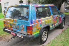 elmer jeep cherokee art car image