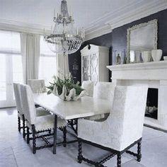 elegant black dining rooms - Google Search