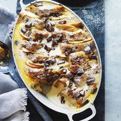 Collect this Pear and Chocolate Bread and Butter Pudding recipe by Devondale… Uk Recipes, Easy Bread Recipes, Pudding Recipes, Sweet Recipes, Baking Recipes, Chocolate Bread Pudding, Bread And Butter Pudding, Award Winning Bread Pudding Recipe, Baking Cookbooks