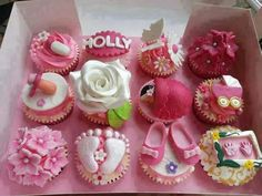 Baby girl baby shower cupcakes!