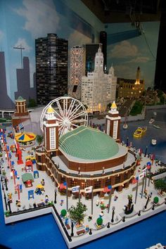 Legoland Miniland of Navy Pier and surrounding Chicago.