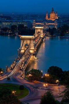 great shot budapest bridge hungary taken from top of incline,similar to Pittsburgh