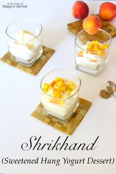 Sweetened Hung Yogurt - Shrikhand