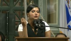 A couple of you are probably evil.  Watch Mindy Kaling's Funny, Heartfelt Harvard Class