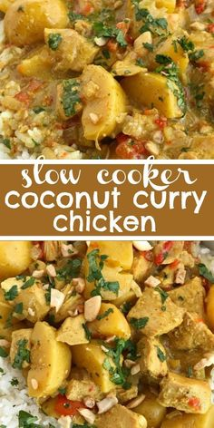 Crock Pot Curry, Slow Cooker Chicken Curry, Easy Crockpot Chicken, Crockpot Recipes, Chicken Recipes, Crockpot Curry Chicken Recipe, Slow Cooker Chicken Potatoes, Slow Cooker Recipes Family, Slow Cooker