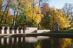 Viesturdārzs, the oldest park in Riga, Latvia